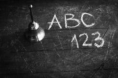 Concept d'école de vintage noir et blanc Photo stock