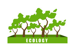 Concept d'écologie avec le fond d'arbre de polygone illustration libre de droits