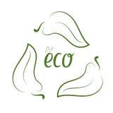 Concept d'écologie avec les feuilles vertes Photos stock