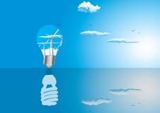 Concept d'écologie d'ampoules Photos libres de droits