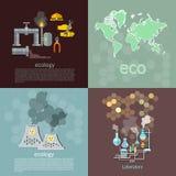 Concept d'écologie de pollution Images libres de droits