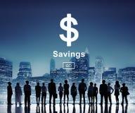 Concept d'économie de budget d'argent d'actifs bancaires de l'épargne photo stock