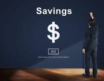 Concept d'économie de budget d'argent d'actifs bancaires de l'épargne photos libres de droits