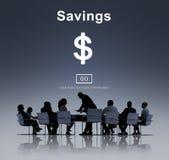 Concept d'économie de budget d'argent d'actifs bancaires de l'épargne photos stock