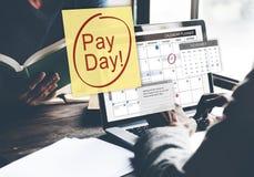Concept d'économie de budget d'opérations bancaires de comptabilité de jour de salaire photographie stock libre de droits
