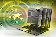 concept d'écran pour des actualités en ligne Photos libres de droits