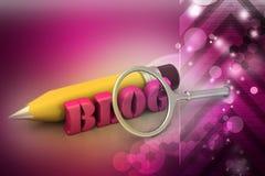 Concept d'écriture de blog Images libres de droits