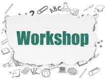 Concept d'éducation : Atelier sur le papier déchiré Photos stock