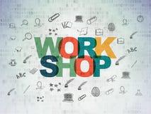 Concept d'éducation : Atelier sur le papier de Digital Photos stock