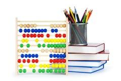 Concept d'éducation avec des crayons, Images stock