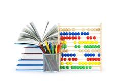 Concept d'éducation avec des crayons Image stock