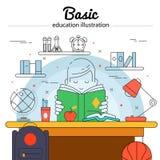 Concept d'éducation de base illustration libre de droits