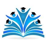 Concept d'éducation de livre et de diplômés Photographie stock libre de droits