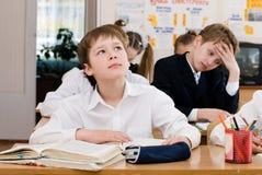 Concept d'éducation - instruisez les étudiants à la classe image libre de droits