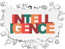 Concept d'éducation : Intelligence sur le fond de papier déchiré Image libre de droits