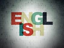 Concept d'éducation : L'anglais sur le papier de Digital Photographie stock
