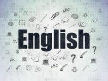 Concept d'éducation : L'anglais sur le papier de Digital Photographie stock libre de droits
