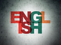 Concept d'éducation : L'anglais sur le papier de Digital Images libres de droits