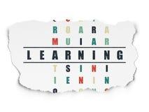 Concept d'éducation : mot apprenant dans la solution Image stock