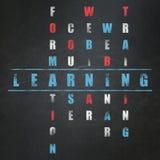 Concept d'éducation : mot apprenant dans la solution Images libres de droits