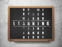 Concept d'éducation : mot apprenant dans la solution Photos libres de droits
