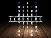 Concept d'éducation : mot apprenant dans la solution Photo stock