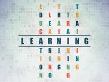 Concept d'éducation : mot apprenant dans la solution Image libre de droits