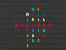 Concept d'éducation : mot Webinar dans la solution Photographie stock