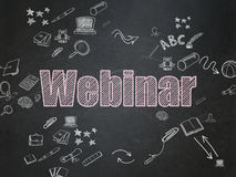 Concept d'éducation : Webinar sur le conseil pédagogique Images stock