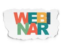 Concept d'éducation : Webinar sur le papier déchiré Images libres de droits