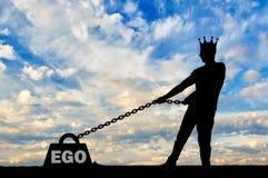 Concept d'égoïsme et de narcissisme comme problème pendant une vie normale Images stock