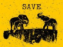 Concept d'éléphants illustration de vecteur