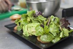 Concept d'élaboration de salade de nourriture de Vegan photo libre de droits