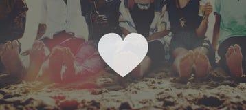 Concept d'émotion d'amour de symbole d'icône de coeur Image stock