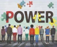 Concept d'énergie de développement de capacité de capacité de puissance photographie stock libre de droits