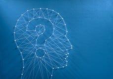 Concept d'énigme d'esprit humain photographie stock libre de droits