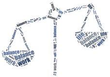 Concept d'équilibre de la vie de travail Illustration de nuage de Word Photo libre de droits