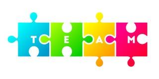 Concept d'équipe avec le puzzle coloré illustration stock