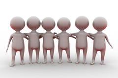 concept d'équipe de l'homme 3d Photo libre de droits