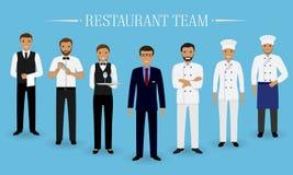 Quipe de restaurant homme faisant cuire le chef - Directeur de restaurant ...