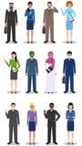 Concept d'équipe et de travail d'équipe d'affaires Ensemble d'illustration détaillée Photographie stock