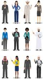 Concept d'équipe et de travail d'équipe d'affaires Ensemble d'illustration détaillée des hommes d'affaires et des femmes d'affair Photo stock