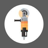 Concept d'équipement d'outil d'Icon Working Hand de broyeur d'angle Photographie stock libre de droits