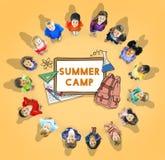 Concept d'été de vacances de vacances de plage d'été Image libre de droits
