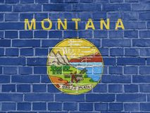 Concept d'états d'USA : Montana Flag Wall illustration stock