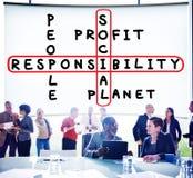 Concept d'éthique de fiabilité de fiabilité de responsabilité sociale photos stock