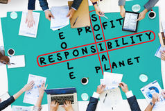 Concept d'éthique de fiabilité de fiabilité de responsabilité sociale photos libres de droits