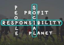 Concept d'éthique de fiabilité de fiabilité de responsabilité sociale image libre de droits