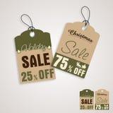 Concept d'étiquette de vente pour la célébration de Noël Photographie stock