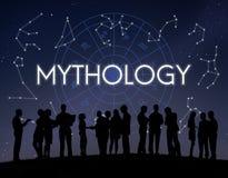 Concept d'étoile d'univers de cosmos de mythologie image libre de droits